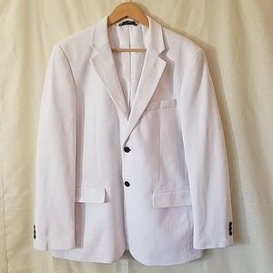 White Nautica Dress Suit Blazer Sport Coat 40R